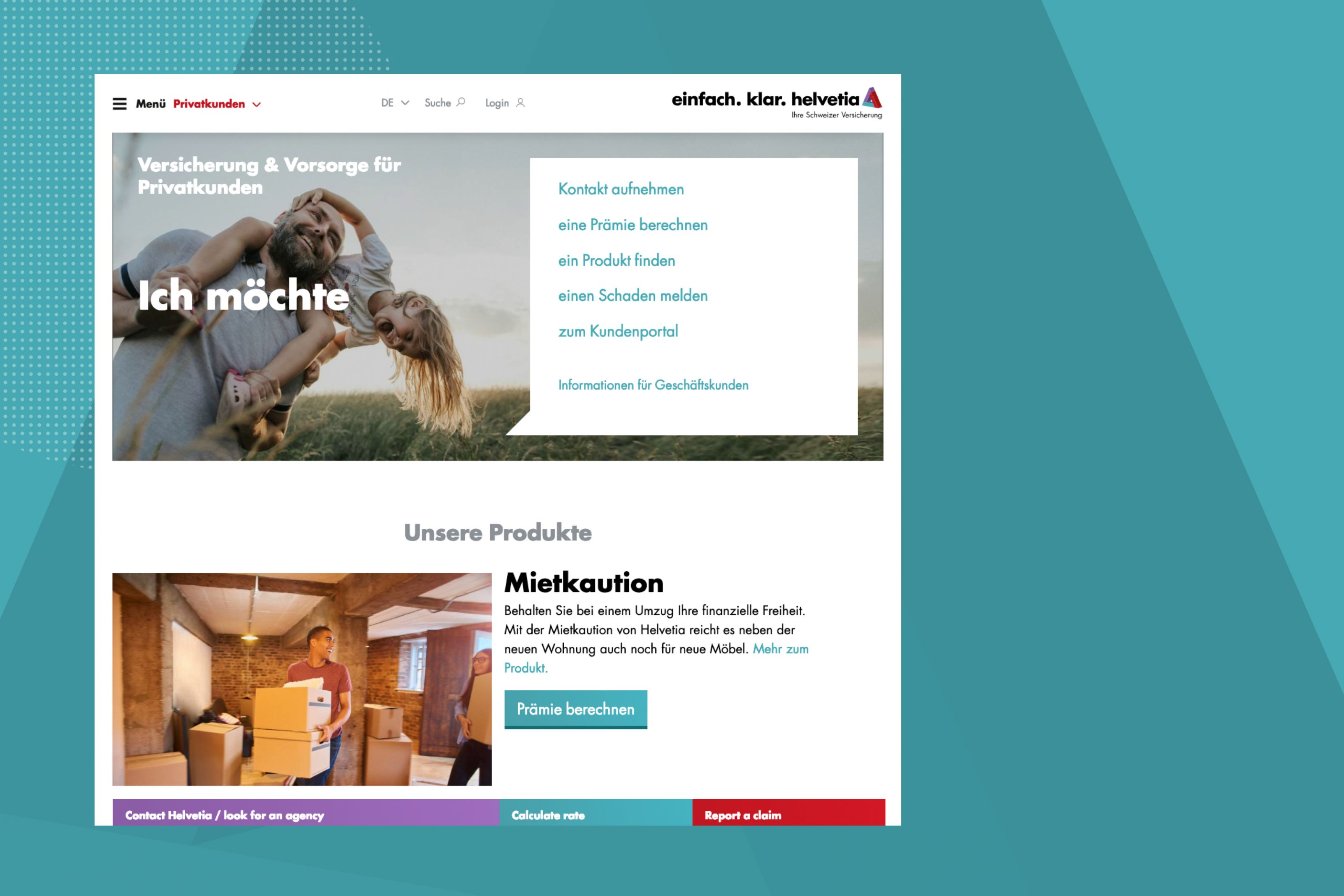 Helvetia Website Einblicke in die neue Website