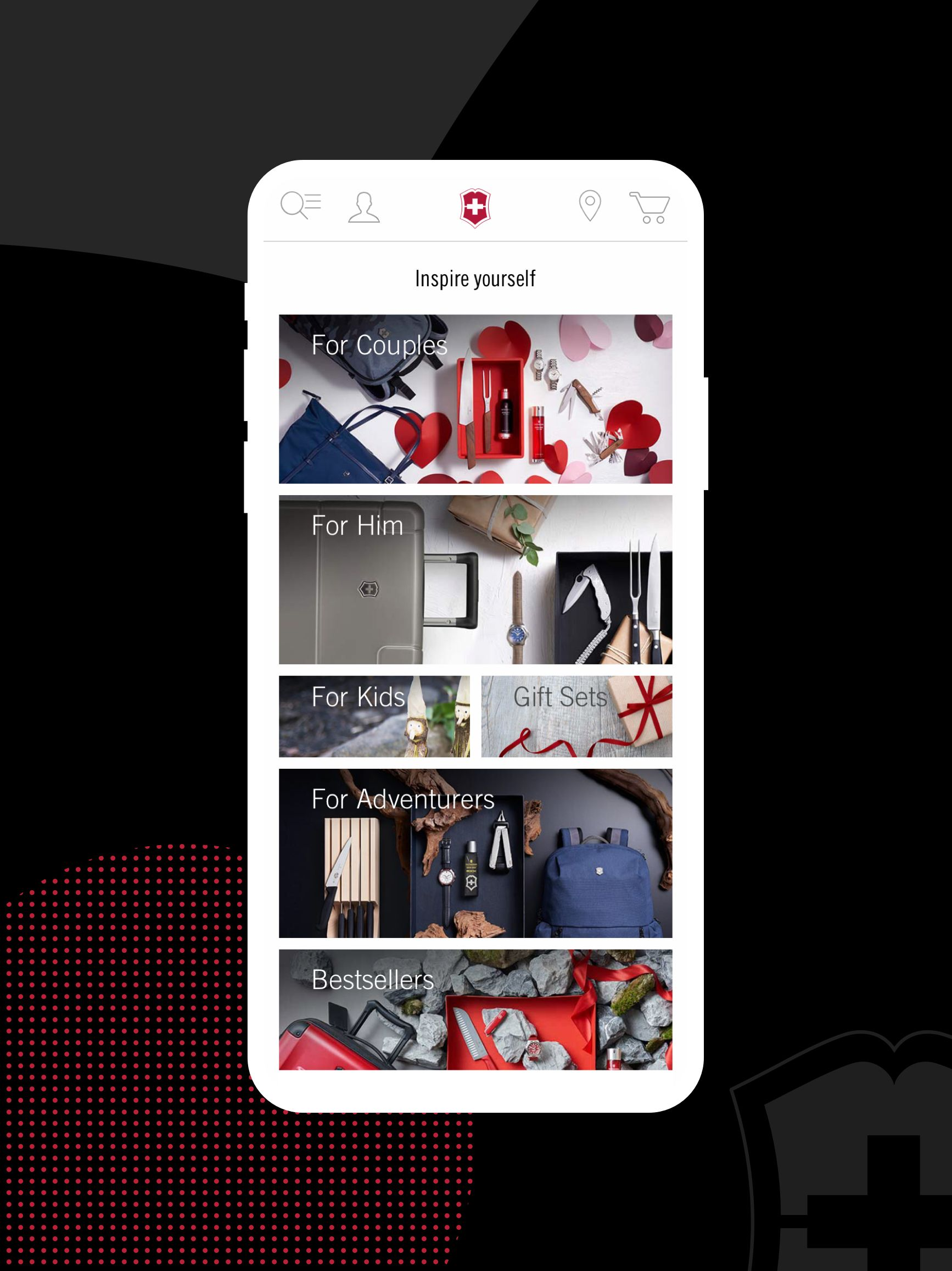 Victorinox mobile Website - Einblicke