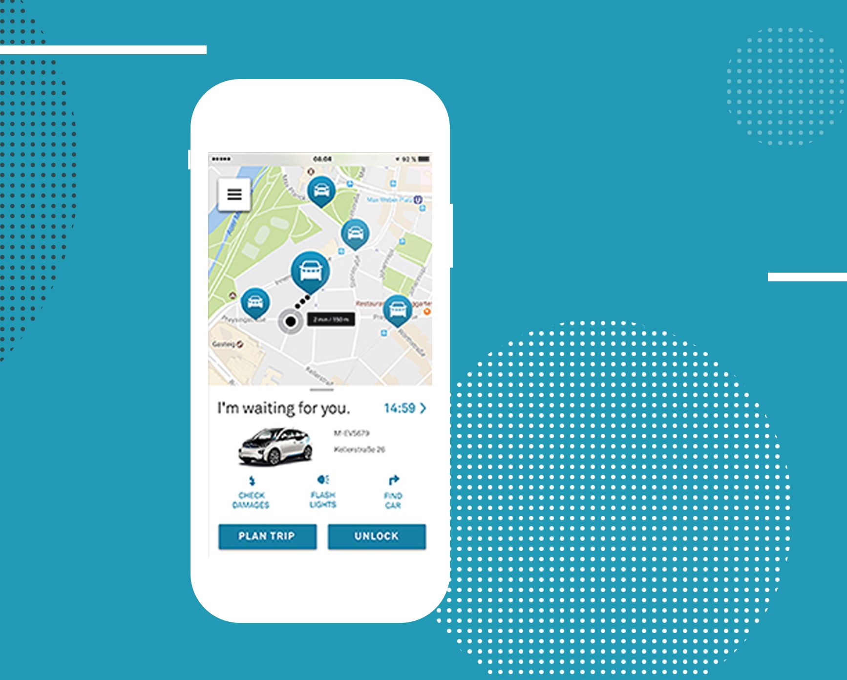 DriveNow - Mobile view car finder