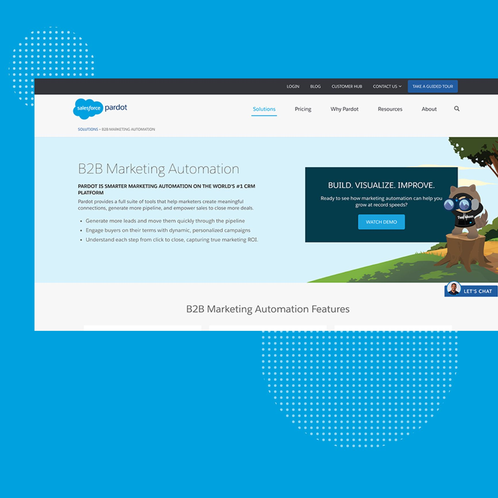 audimex - Ansicht der Website B2B Marketing Automation