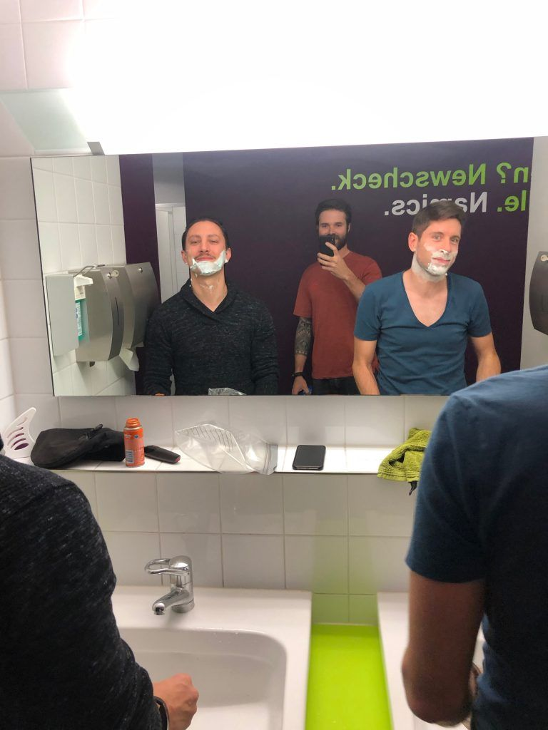 Shave Down für den Namics Movember