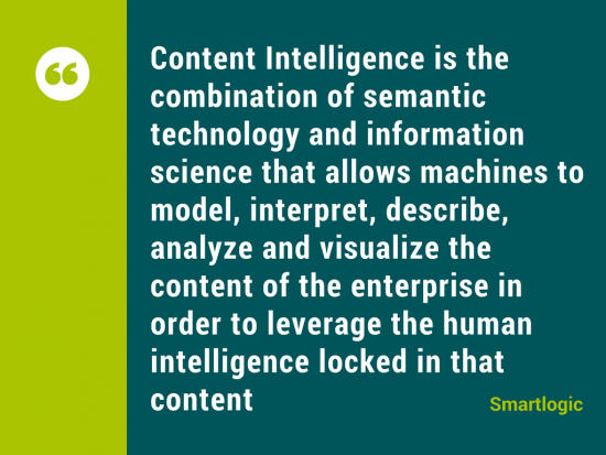 Content Intelligence Definition Smartlogic