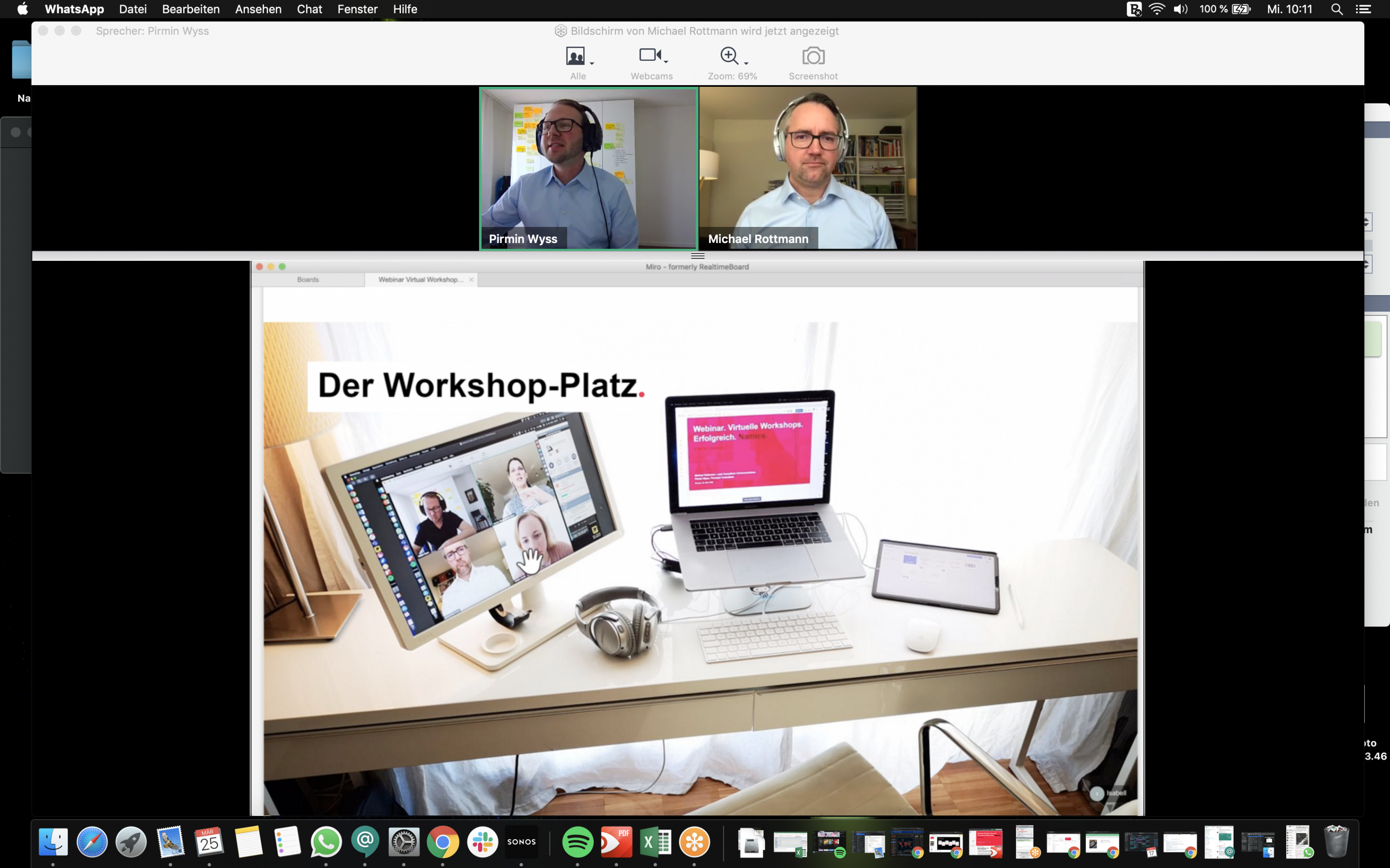 Virtuelle Workshop Platz