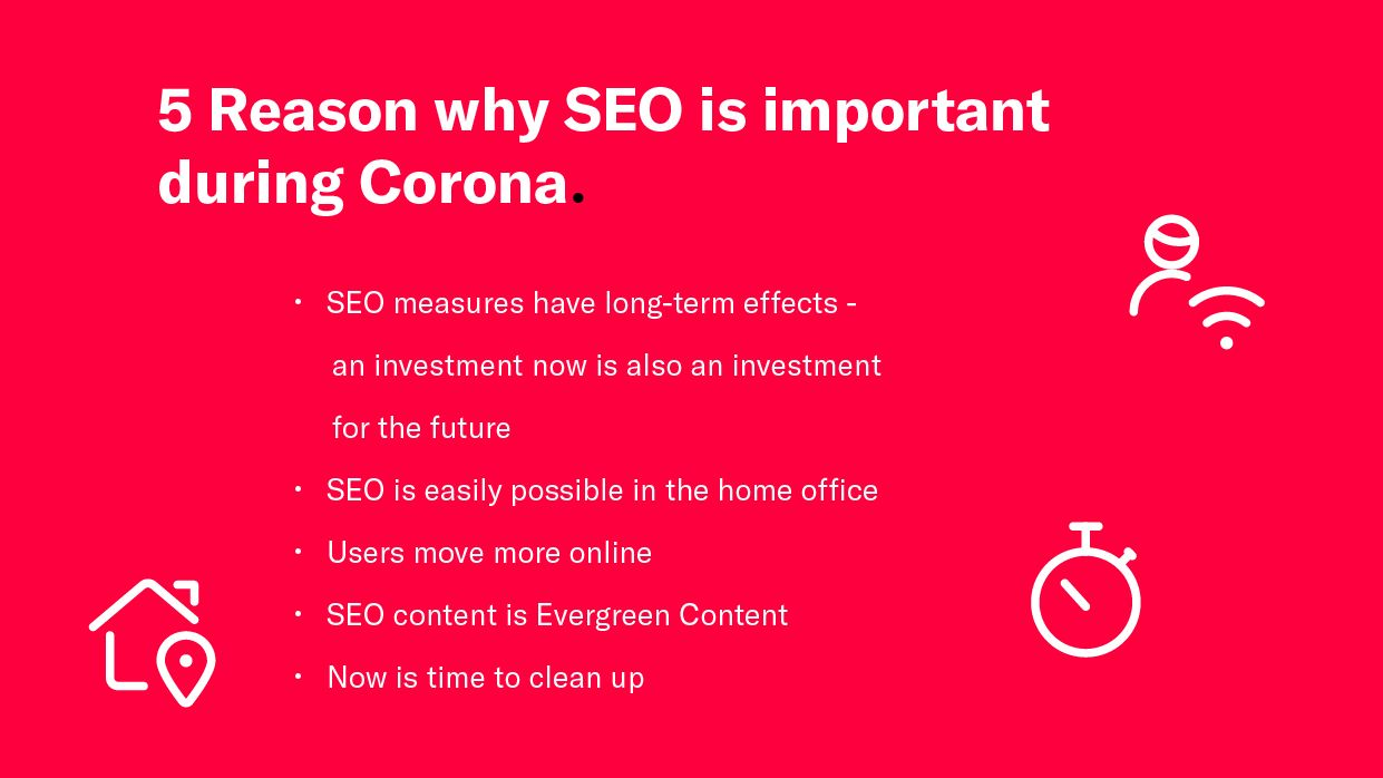 List of 5 reasons why SEO is important during Corona