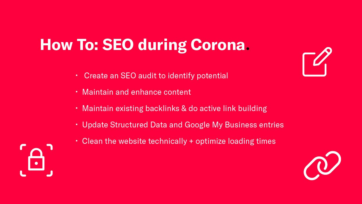 Our recommendations for SEO during Corona