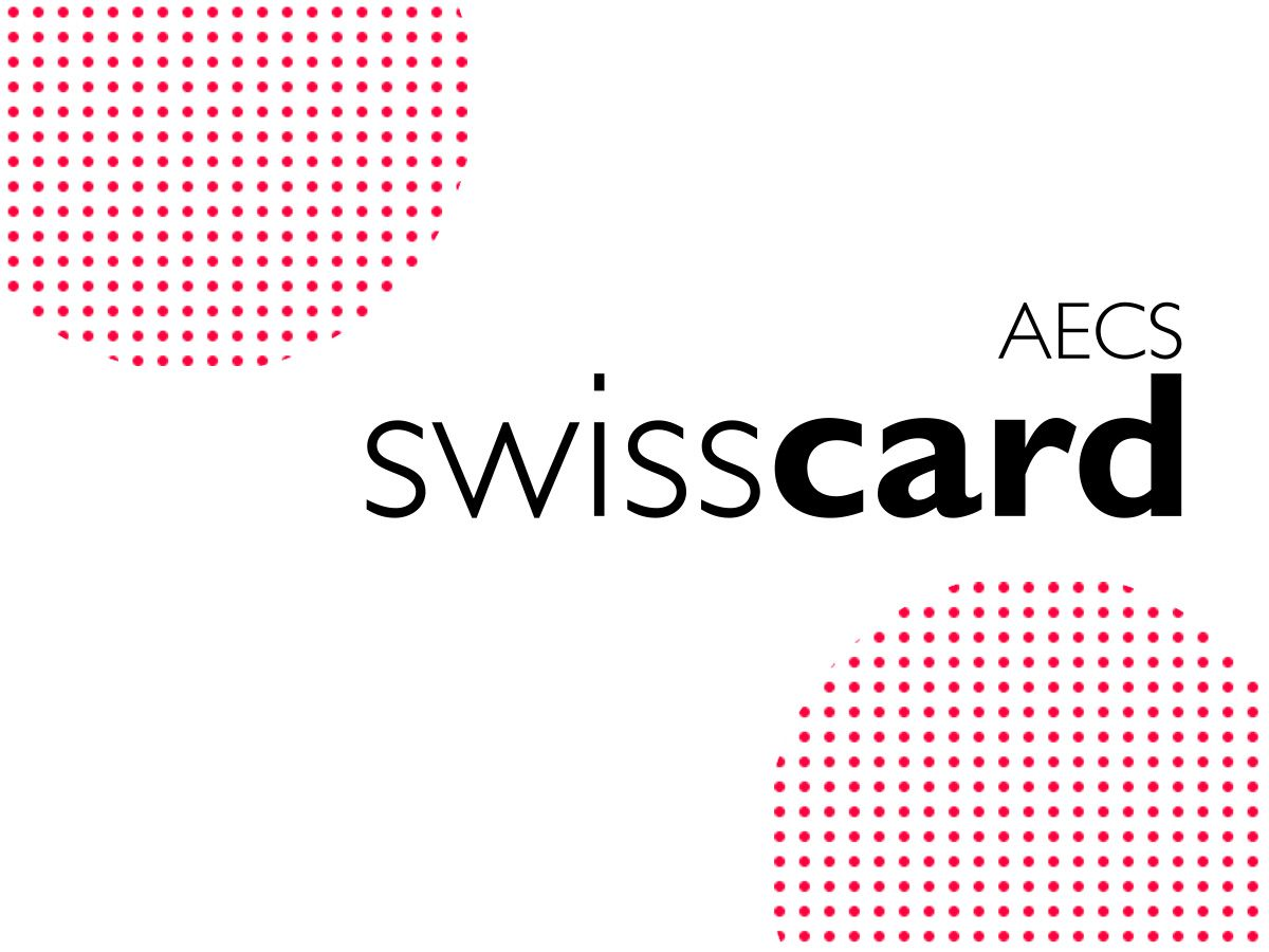 Swisscard Logo mit Dot-Patterns